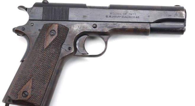 U.S. martial M1911s were in production from 1912-1945 from companies as diverse as Remington-UMC, Singer, and US&S. (Photo: National Firearms Museum)