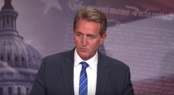 U.S. Sen. Jeff Flake has crafted a bill that would see those convicted by military courts in domestic violence cases forwarded to the NICS system. (Photo: Flake's office)