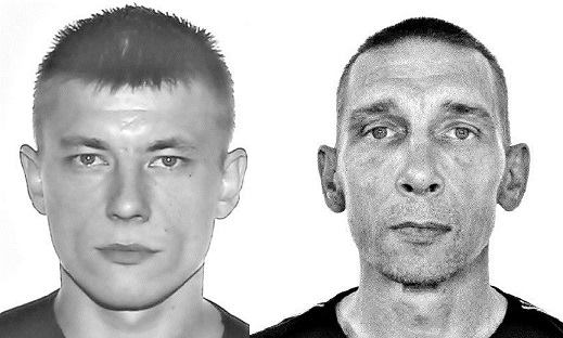 Aivaras Vysniauskas, left, and his passenger Gytis Vysniauskas brought 10 pistols and matching cans to Britian. A concept that failed to impress either border agents or prosecutors in a country with strict gun control. (Photos: NAC)