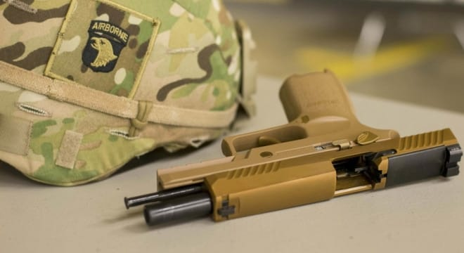 Troops of the 101st Airborne Division were the first in the Army to be issued the new handgun, based on the Sig P320 (Photos: DOD)