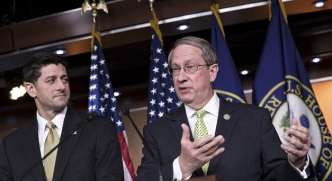 House Judiciary Committee Chairman Bob Goodlatte, right, said the carry rights bill passed this week helps ensure the Second Amendment doesn't stop at state lines. (Photo: Reuters)