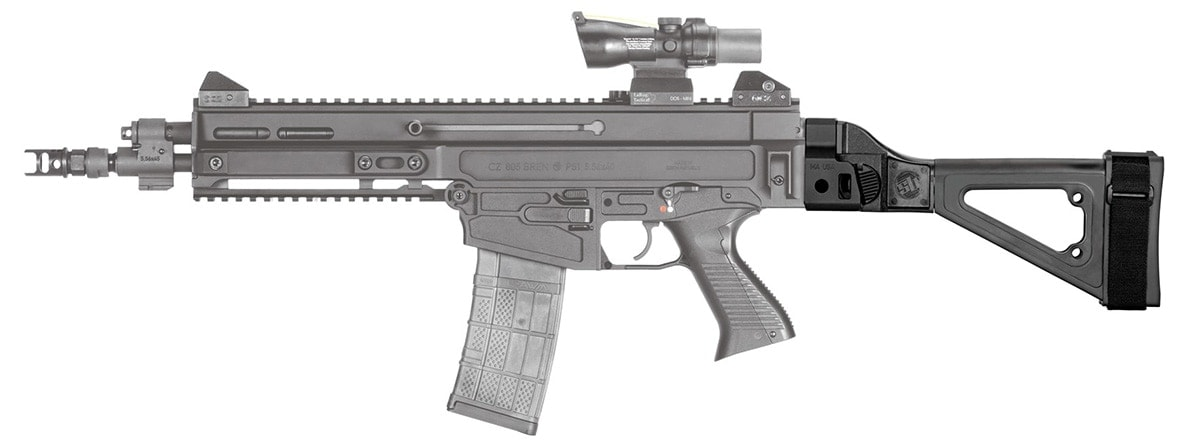 The SBT 805 brace is specifically tailored to the CX Bren(Photo: SB Tactical)