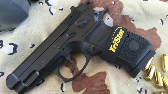 The TriStar C100 handgun chambered in 9mm. (Photo: Team HB)