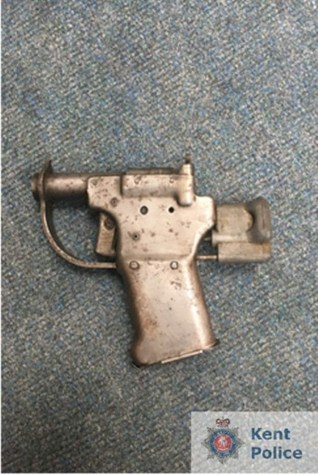 The Liberator, seen here with its chamber open, was designed to be dropped into German-occupied Europe in a cardboard box complete with a cartoon instruction sheet and a few rounds of .45ACP ammo. (Photo: Kent Police)