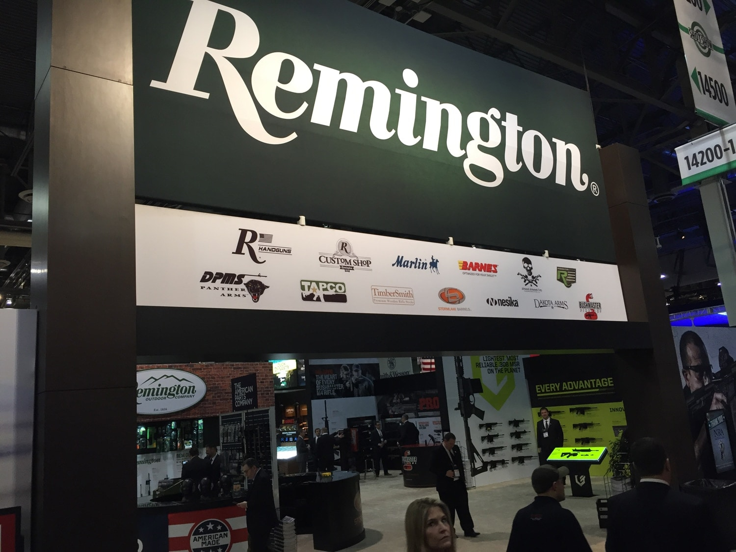 The entrance to the Remington Outdoor Company booth at SHOT Show 2017. (Photo: Daniel Terrill/Guns.com)