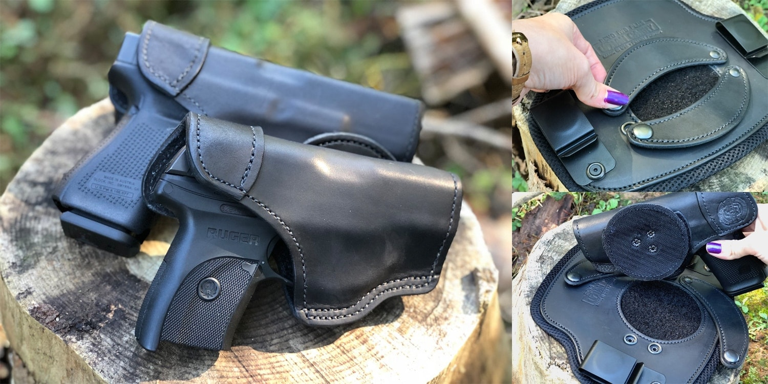 The IWB Plus, like all of the Revo's rigs, features a hook-and-loop attachment point surrounded by leather flaps for added security. (Photo: Jacki Billings)