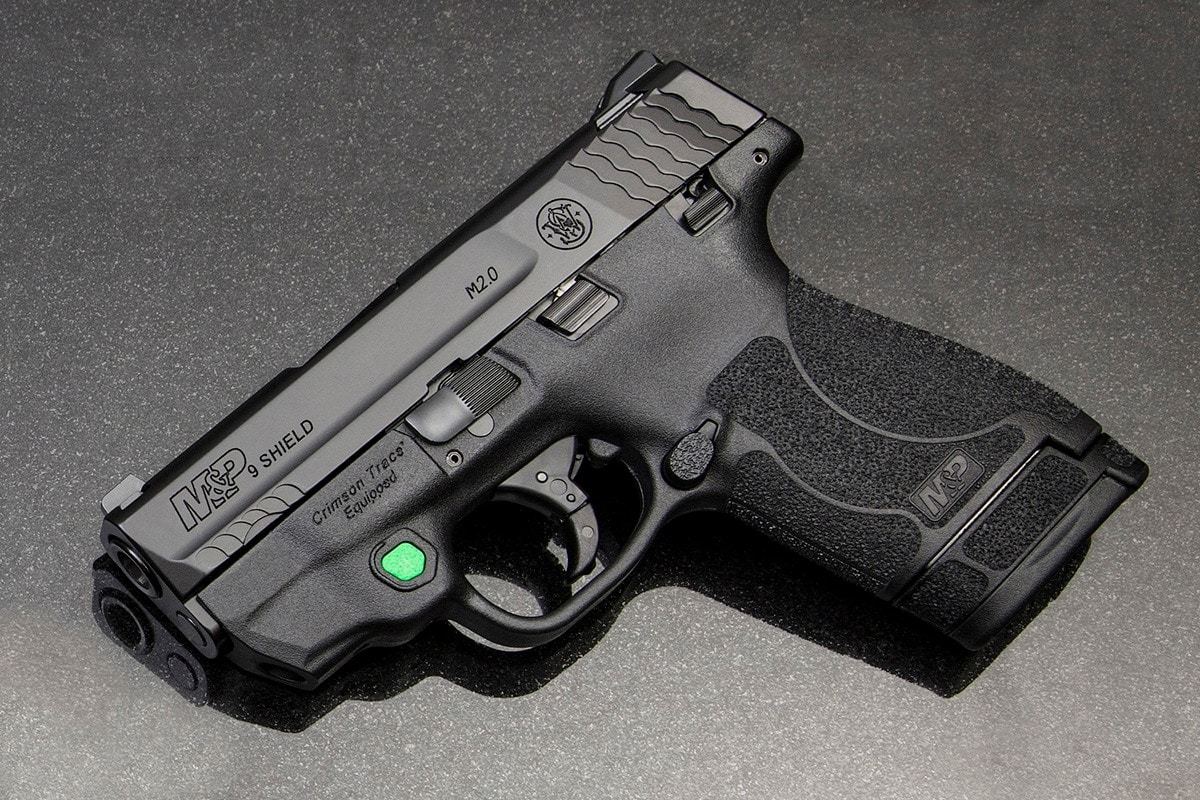 Smith & Wesson and Crimson Trace team up to deliver a M2.0 green laser package. (Photo: Smith & Wesson)