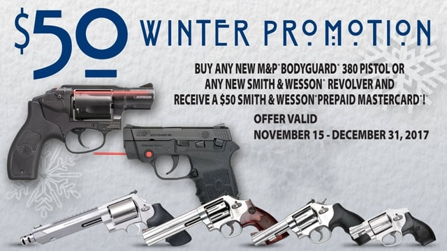 smith and wesson 2017 winter promotion ad