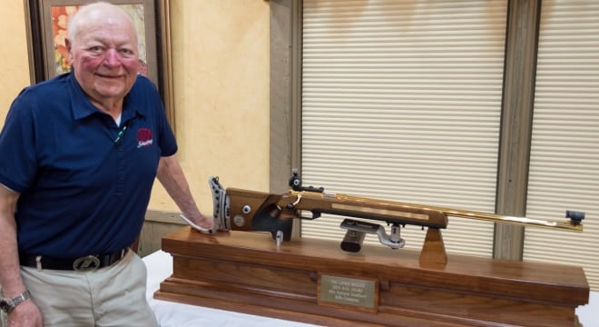 Lt. Col. Wigger won more medals in international shooting competitions-- 111-- than any other athlete in the world. (Photo: Shooting Sports USA)