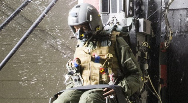 """This is the first time any service has conducted this type of demonstration to ensure a side arm is safe for aircrew to carry in ejection seat aircraft,"" says the service."