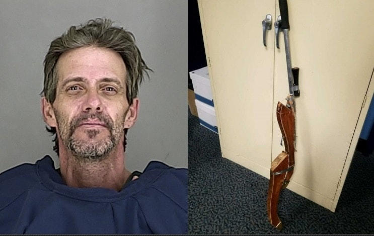 """The clerk and three customers reportedly took cover when Derringer came in waving the """"gun"""" then soon chased him from the store. (Photo: Akron Police via the Akron Beacon-Journal)"""