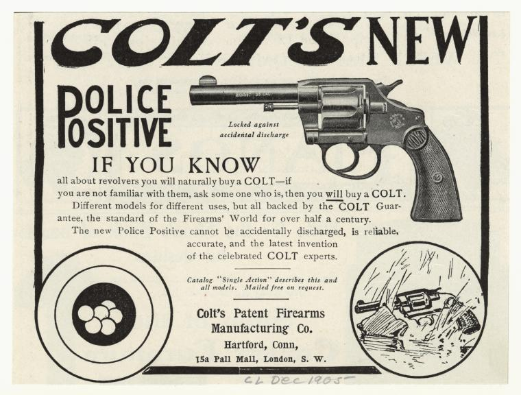 Colt New Police Positive ad from 1905 (Photo: New York Public Library)
