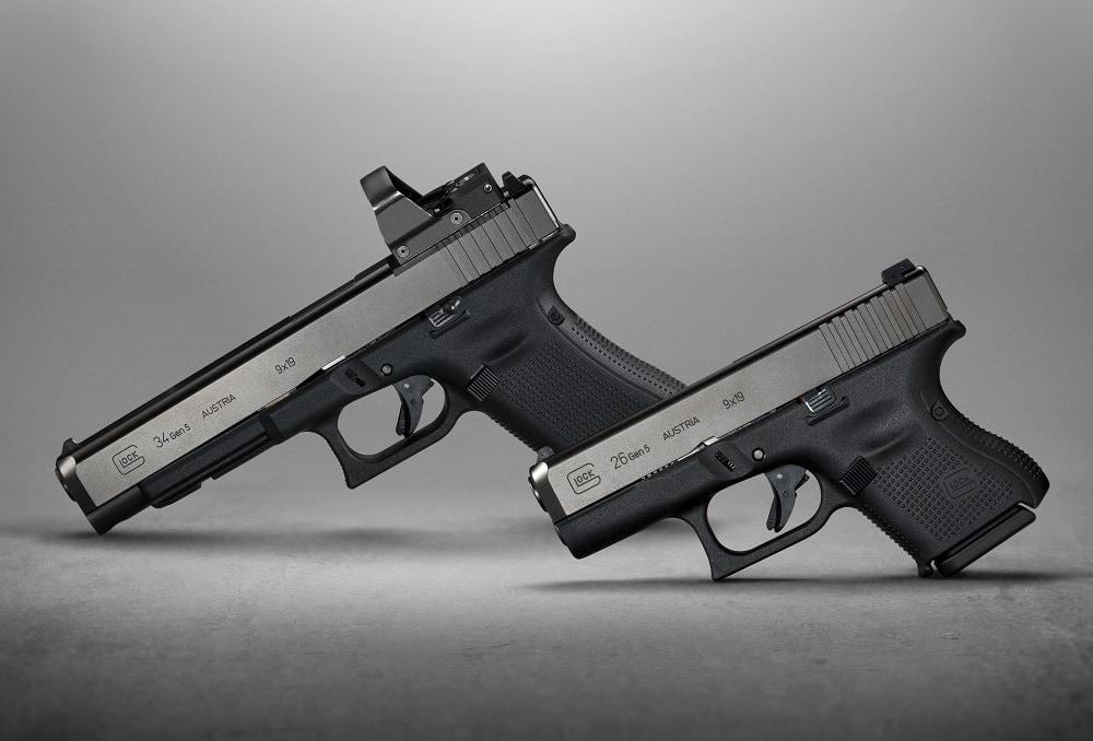 Glock has added Gen 5 variants of the G34 MOS and G26 pistols to their catalog. (Photo: Glock)