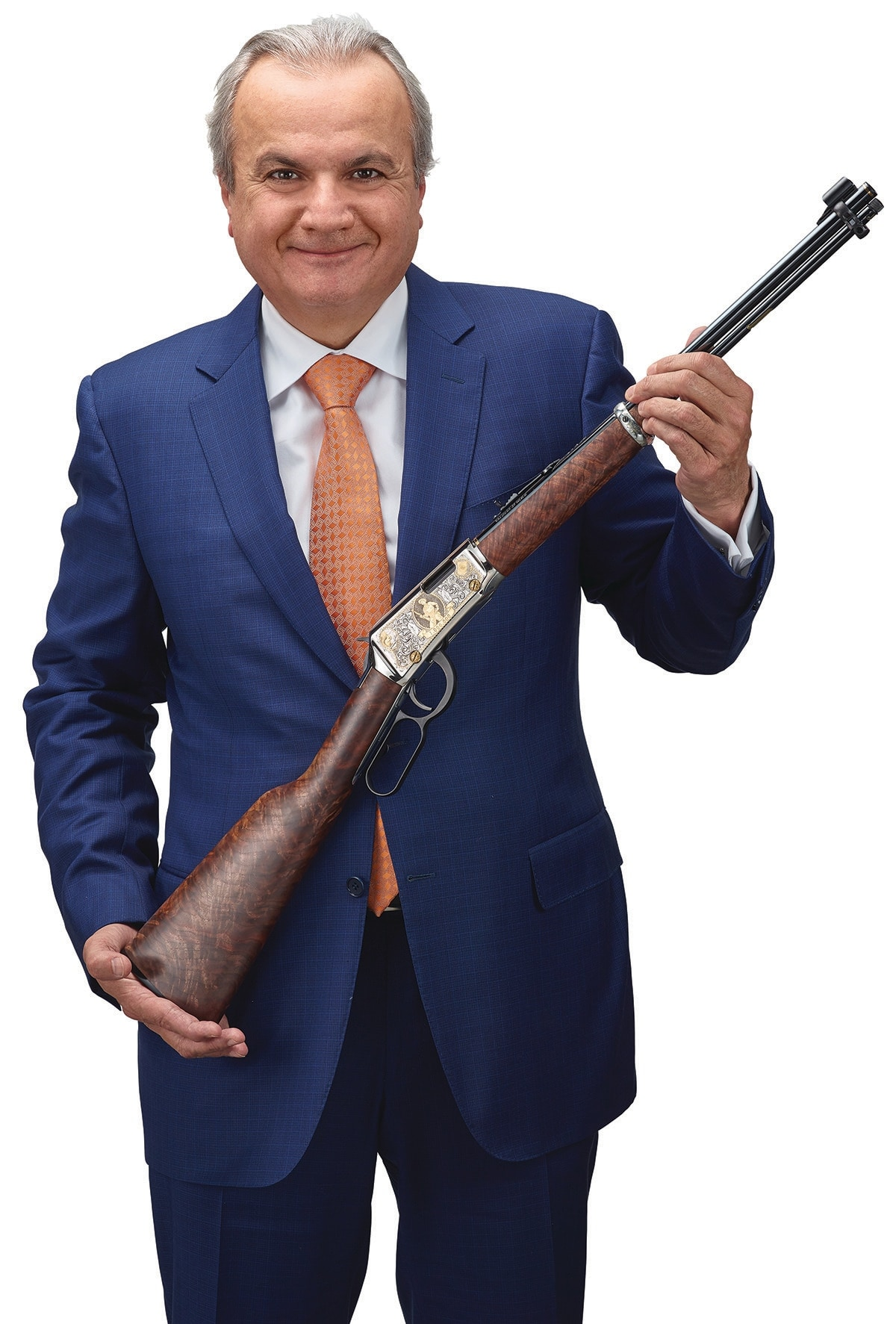 President of henry Repeating Arms ___ Imperato holds the one millionth rifle. (Photo: Henry Repeating Arms)