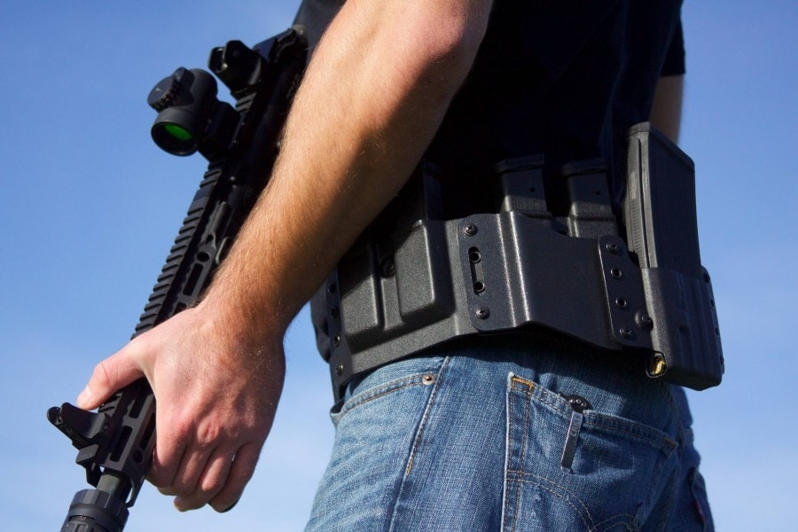 High Threat Concealment introduced the QRS-Salvo, a complete holster and belt system for tactical shooters. (Photo: High Threat Concealment)