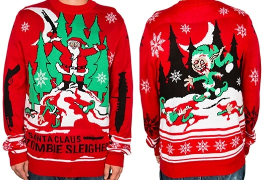 Zombie Christmas Sweater.La Police Gear Celebrates The Holidays With Zombie Christmas