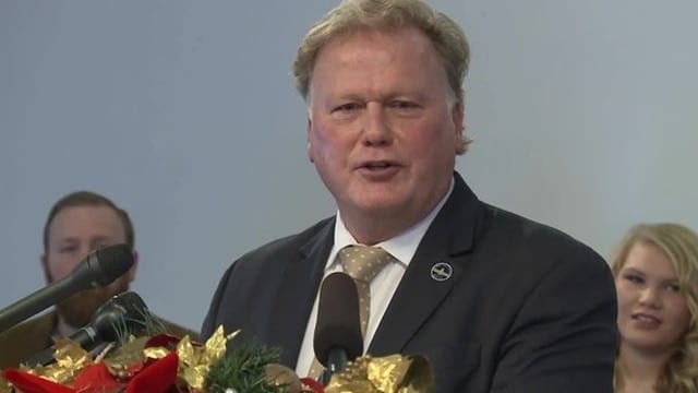 Kentucky state Rep. Dan Johnson dismissed allegations that he molested an underage girl during a press conference this week. (Photo: WLKY)