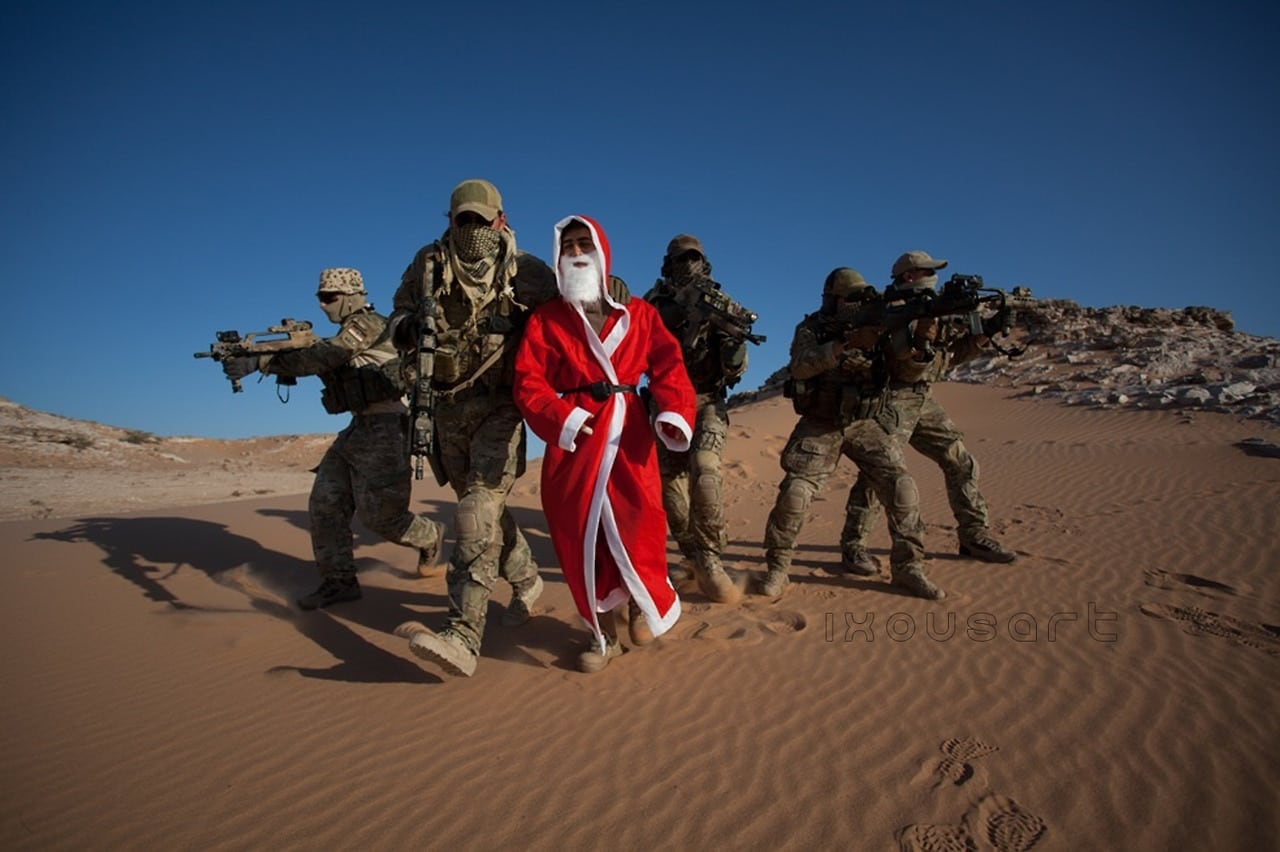german ksk making combat TRAP CSAR of father christmas in Afghanistan