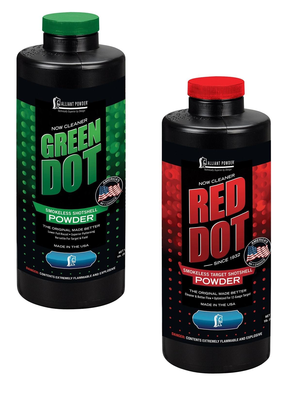 Alliant Powder releases new Red Dot, Green Dot reloading