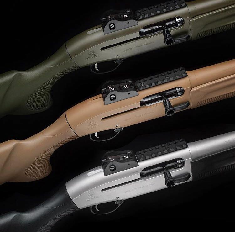 The 3 current finishes in the 1301 Tac. (Photos: Beretta)