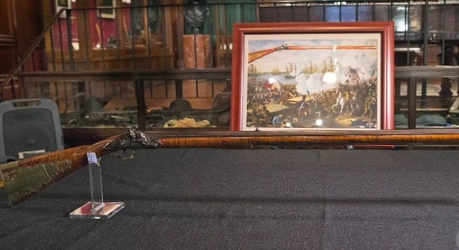 The longrifle, crafted by Virginia gunsmith John Scheetz around 1810, was used in the Battle of New Orleans and was recently returned to a museum in the city. (Photo: New Orleans Times-Picayune)