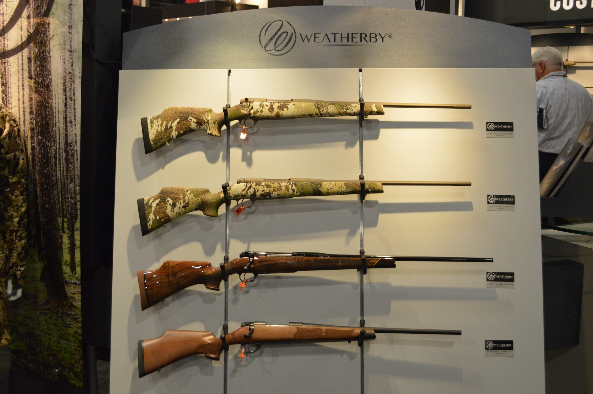 The biggest news from Weatherby was annoucement of the move from California to Wyoming. The introduction of multiple models of women's Camilla Mark V rifles in expanded chambering is also quite exciting. (Photo: Kristin Alberts/Guns.com)
