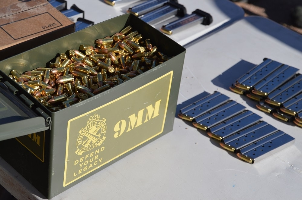 9mm food over at the Springfield Armory booth (Photo: Chris Eger/Guns.com)