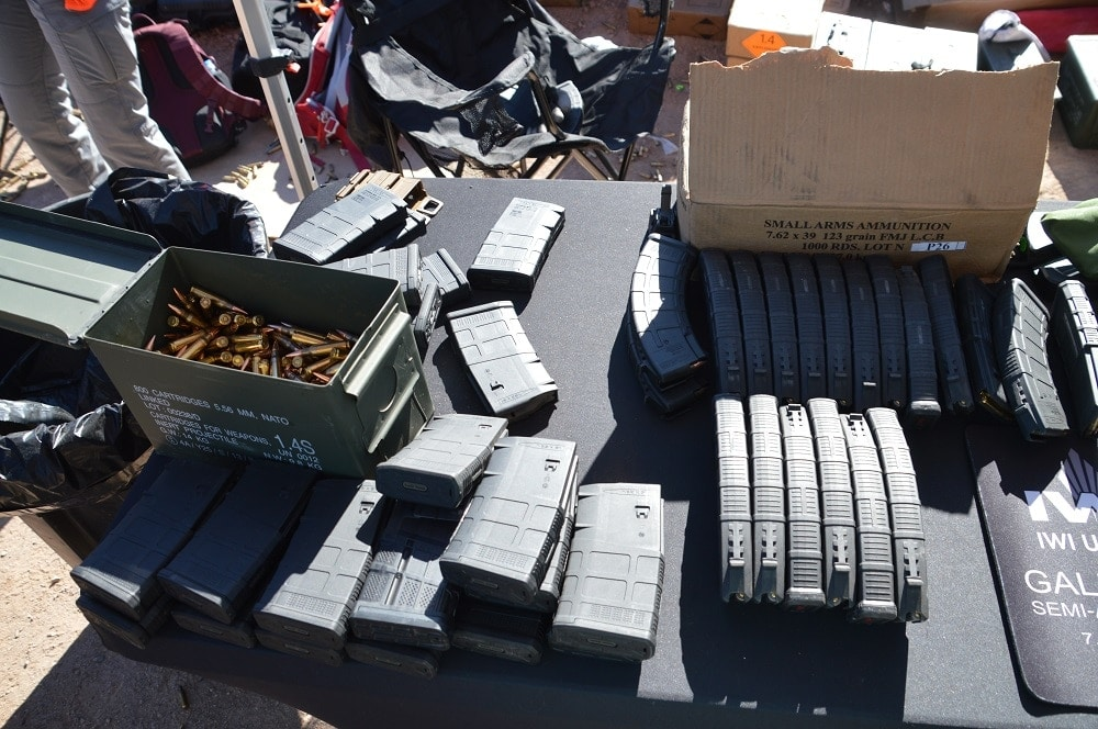 IWI brought a wide array of ammo to the party (Photo: Chris Eger/Guns.com)