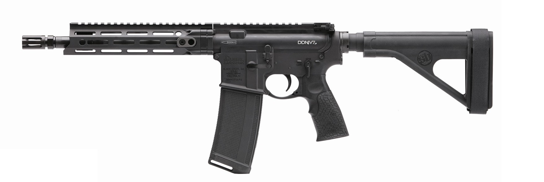 The DDM4V7P is offered in both 5.56mm and .300 Blackout (Photo: Daniel Defense)