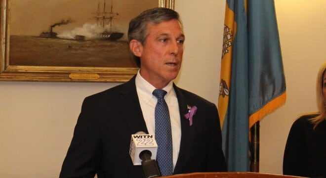 The state's top Dems, including Gov. John Carney, are supporting the new gun control bill. (Photo: Governor's office)