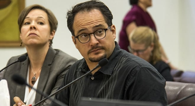 Denver City Councilman Rafael Espinoza is backing a restriction on bump stocks in the city that could see violators spend as much as 180 days in jail. (Photo: Kevin J. Beaty/Denverite)