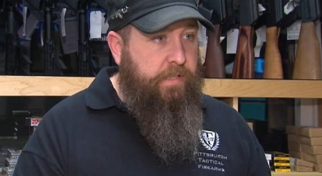 Erik Lowry, 38, plead guilty last June to selling guns through his shop, Pittsburgh Tactical Firearms, without the proper paperwork and illegal possession of a destructive device. (Photo: KRMG)