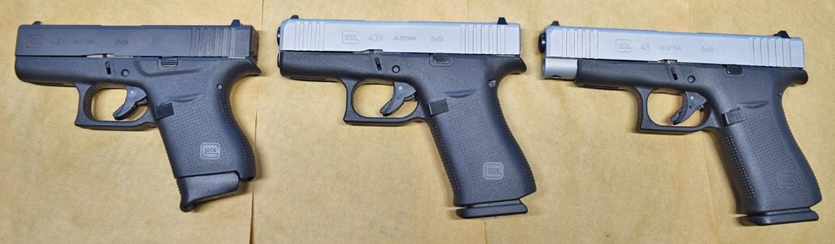 Glock 43, Glock 43x, Glock 48, handgun, pistol