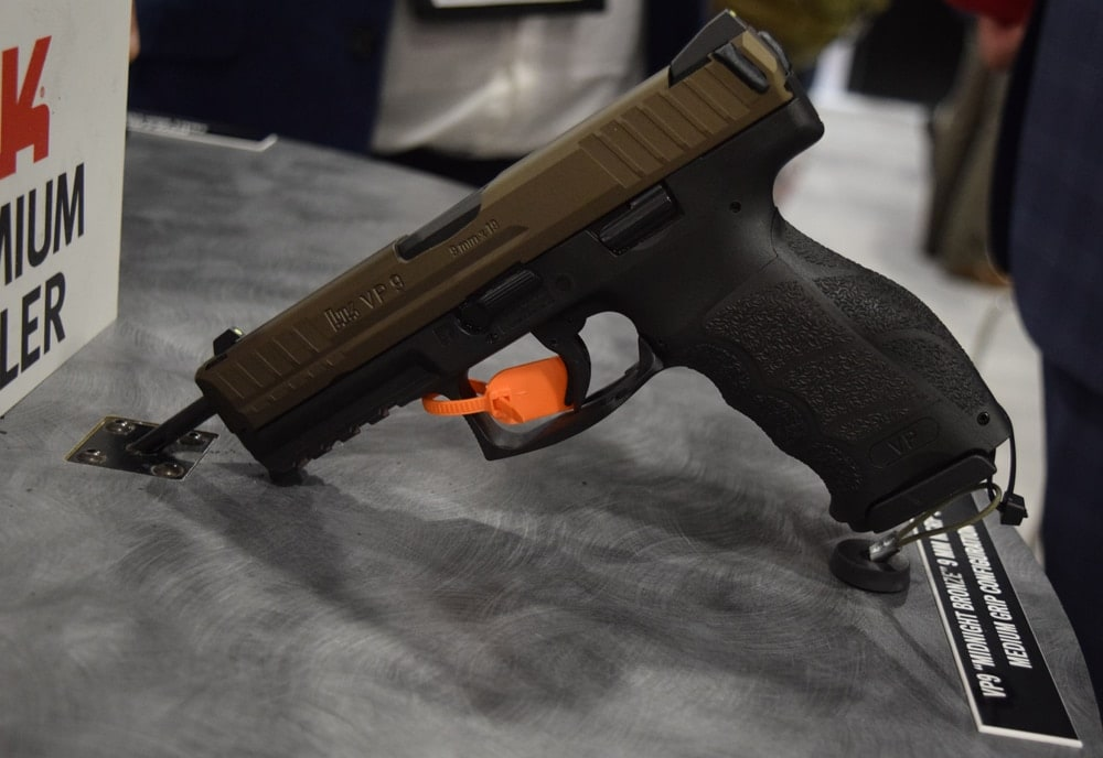 As for new guns, Heckler & Koch introduced the popular VP9 pistol in a Midnight Bronze finish at SHOT Show 2018. (Photo: Daniel Terrill/Guns.com)