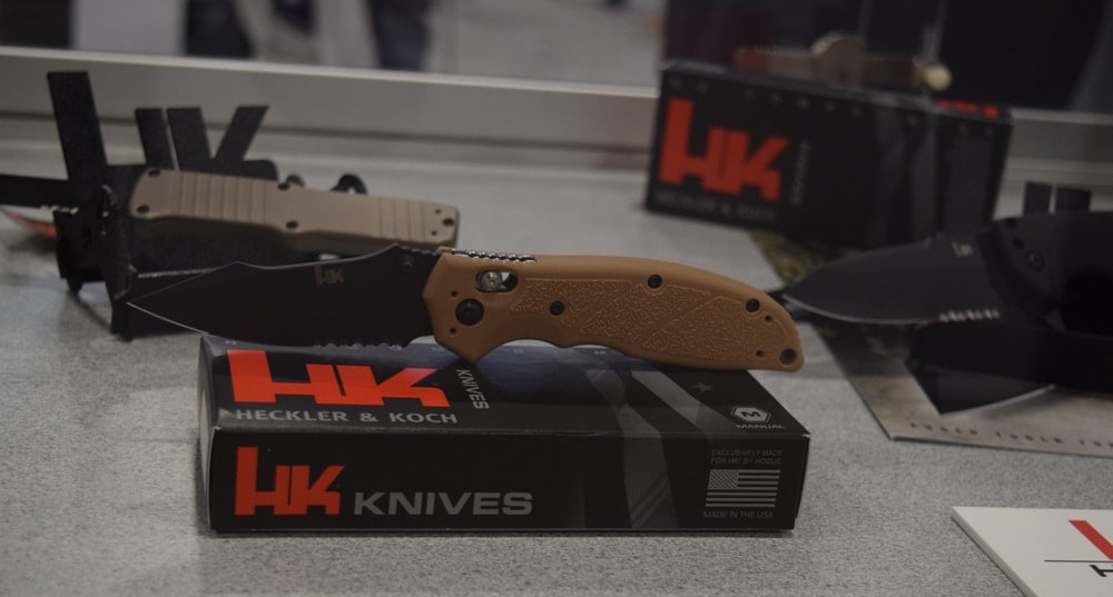 Also new for 2018, Heckler & Koch introduced a line of HK-branded knives. (Photo: Daniel Terrill/Guns.com)