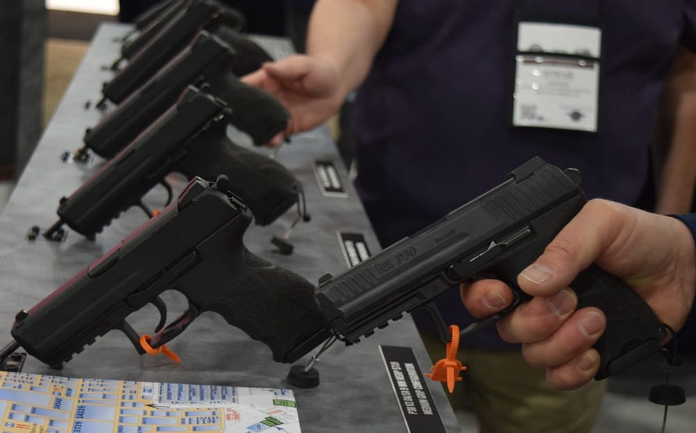 The HK P30 handgun was introduced at a lower price at SHOT Show 2018. (Photo: Daniel Terrill/Guns.com)