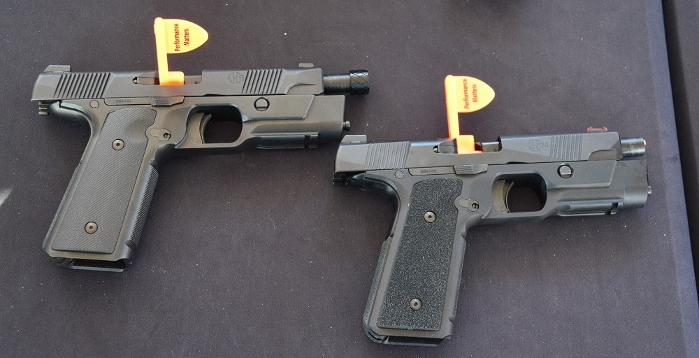 Hudson 9A, left, compared to the original Hudson 9. Note the slight change in ergonomics as well as the threaded barrel (Photo: Chris Eger/Guns.com)
