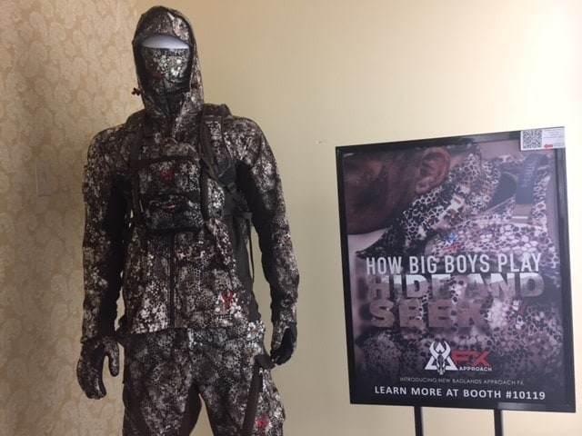 New camo patterns and gear come out every year, but this FX Approach setup from Badlands was getting the most looks. (Photo: Kristin Alberts/Guns.com)