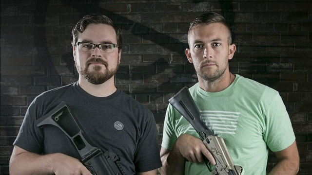 Jonathon Shults, left, and Joshua Waldron, right, founded the Utah-based SilencerCo in a garage in 2008. (Photo: American Shooting Journal)