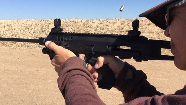 The Micro Roni, Glock, and IGB barrel combo get a thumbs-up for fun and accuracy. (Photo: Eve Flanigan/Guns.com)