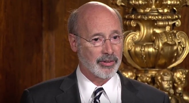 Both gun rights attorneies and Republican lawmakers have pointed out that state law provides a wide range of firearms restrictions during a declared emergency such as the one signed by Wolf this week. (Photo: PA Governor's Office)