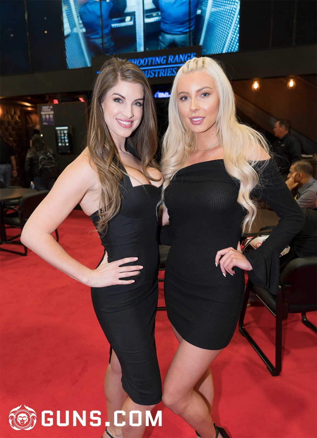 Arielle & Kasey with Shooting Range Systems. (Photo: Ben Philippi/Guns.com)