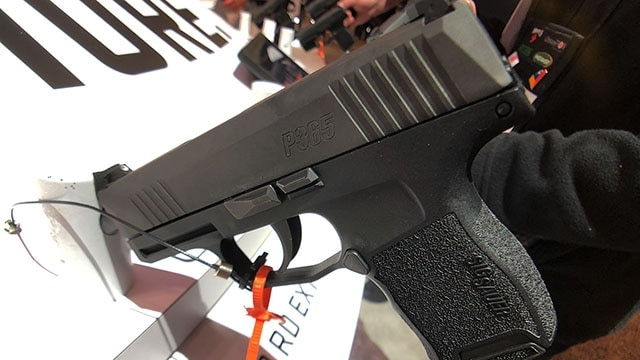 The P365 has a 10 round double stack magazine, weighing in at 17 oz. (Photo: Jacki Billings)