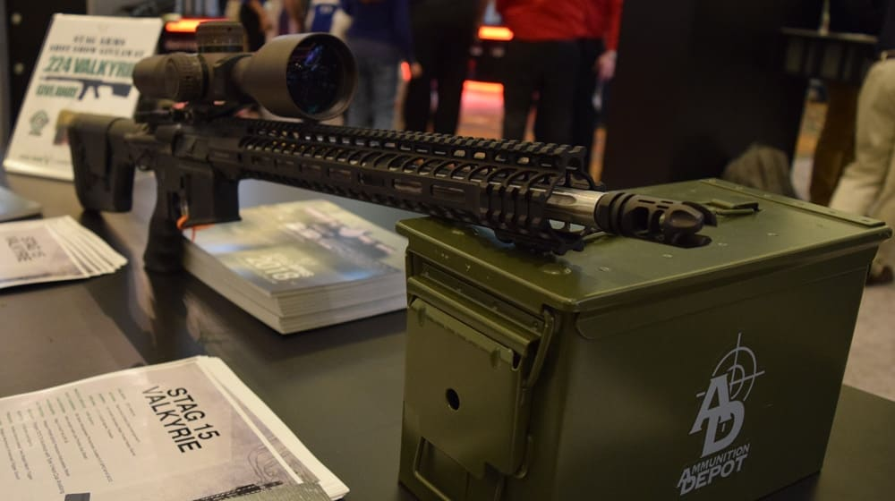 The new Stag 15 Valkryie is available in both right- and left-handed configurations. The rifle has an 18-inch barrel, and measures in at 39 inches and 8.1 pounds. (Photo: Daniel Terrill/Guns.com)