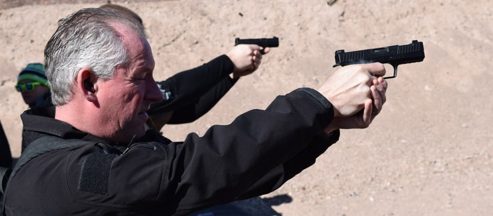 The Type B pistol is a soft shooter and easy to control. (Photo: Daniel Terrill/Guns.com)