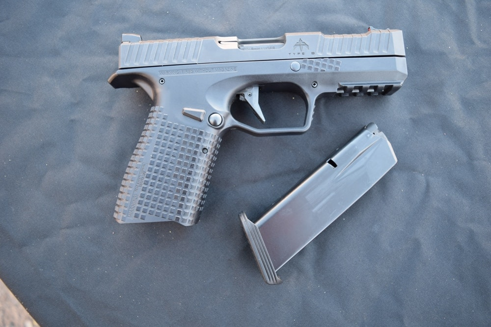 The Type B pistol is chambered for 9mm and its magazine holds 15 rounds. (Photo: Daniel Terrill/Guns.com)