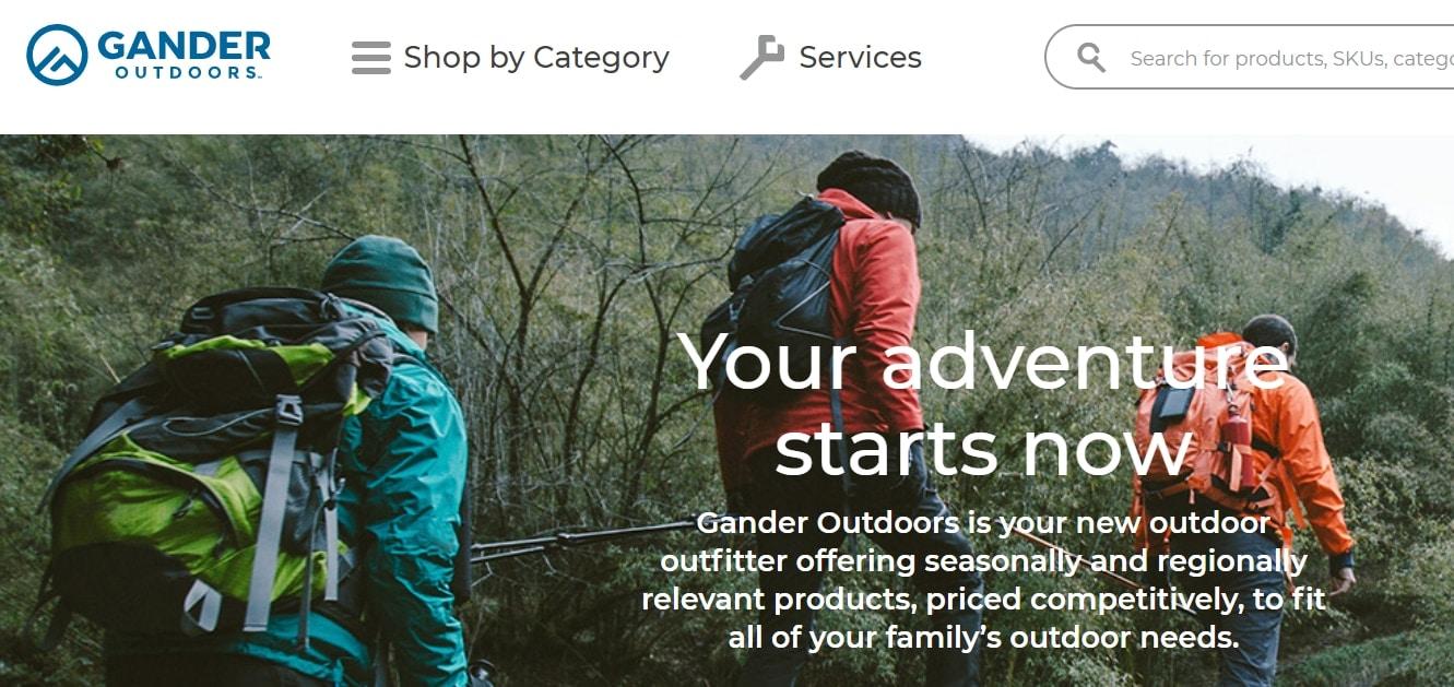 Screenshot of Gander Outdoors online store. (Photo: GanderOutdoors.com)