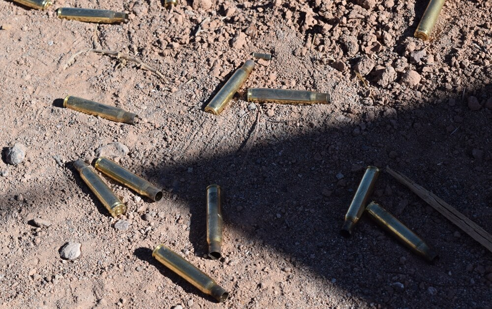 Empty casings from the .30-caliber rounds. (Photo: Daniel Terrill/Guns.com)