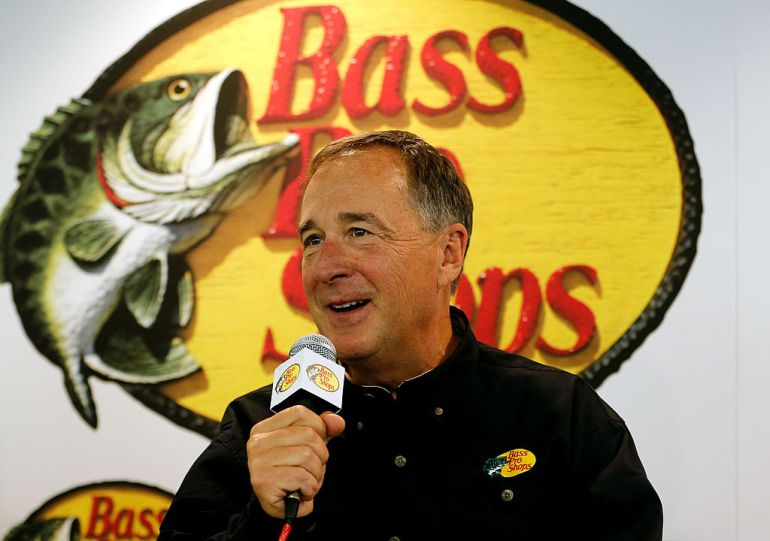 Bass Pro Shops founder and CEO Johnny Morris pledged up to $10 million of his own money to fund severance packages for ousted Cabela's employees -- but only if former Cabela's executives contribute first. ( (Photo by Chris Graythen/Getty Images for Stewart-Haas Racing)