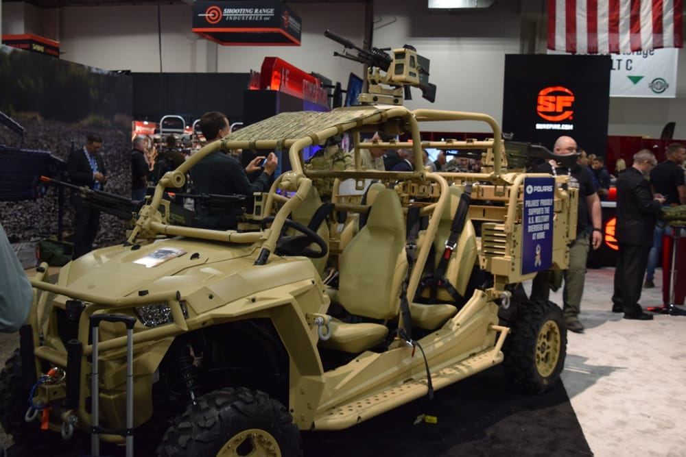 A decked out dune buggy -- an oldie but a goodie -- at the Surefire booth during SHOT Show 2018. (Photo: Daniel Terrill/Guns.com)